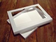A4 White Greeting Card Boxes With Aperture Lid